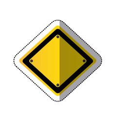 Sticker yellow diamond traffic sign vector