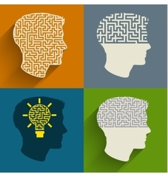 Symbol of the brain thinking vector image