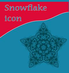 Vinatge star-shape snowflake icon design vector