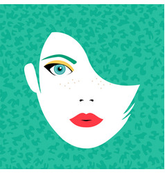 young beautiful woman face in fashion make up vector image