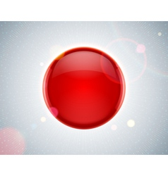 Abstract glossy red sphere vector image vector image