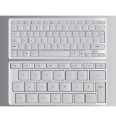 keyboards white vector image vector image