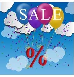 sale balloon discount concept vector image