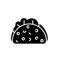 taco icon black sign on vector image