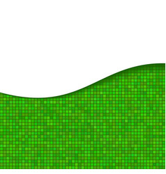Abstract Green Wave Background With Stripes vector image