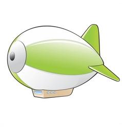 Cartoon Zeppelin vector image