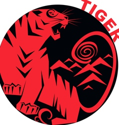 Chinese Horoscope tiger vector image