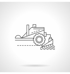 Combine equipment line flat thin line icon vector image vector image