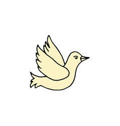 pigeon cartoon hand drawn icon vector image vector image