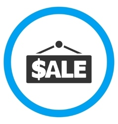 Sale Label Flat Rounded Icon vector image