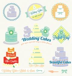 Wedding cake labels vector
