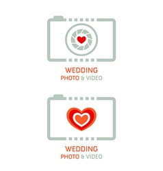 Wedding photo agency vector image vector image
