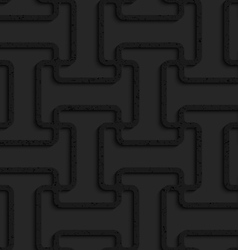 Black textured plastic double T grid vector image vector image