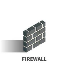 firewall icon symbol vector image