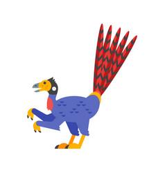 flat style prehistoric animal vector image