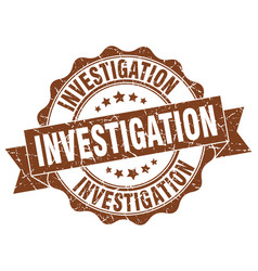 investigation stamp sign seal vector image vector image