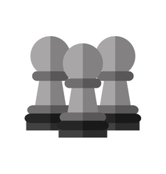 Isolated piece of chess design vector image vector image