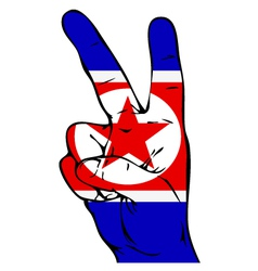Peace Sign of the North Korean flag vector image