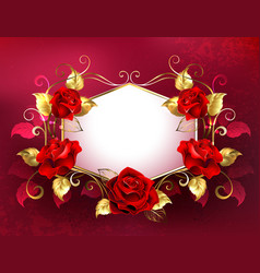 signboard with jewelry red roses vector image vector image