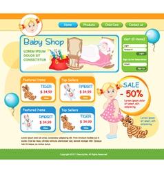 Baby Shop web template vector image vector image