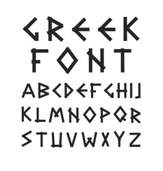 english alphabet in ancient style vector image