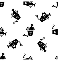 Fish and chips pattern vector image