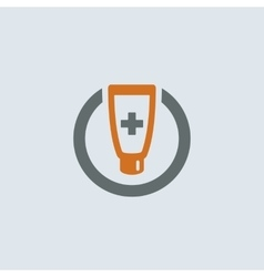 Gray-orange Ointment Round Icon vector image vector image