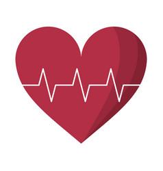 heart pulse rhythm cardio vector image