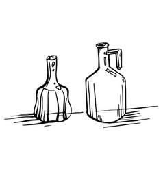 painted glass decanters vector image vector image