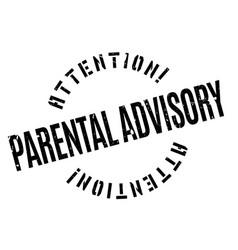 parental advisory rubber stamp vector image