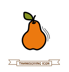 pear icon harvest thanksgiving vector image vector image