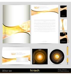 template business set Design elements vector image
