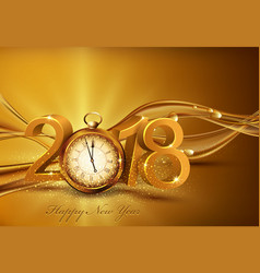 3d gold digits 2018 for the new year vector