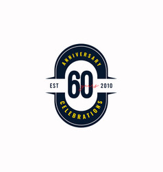 60 years anniversary celebration est 2010 vector