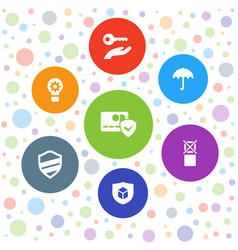 7 protect icons vector image