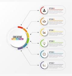 Abstract elements graph infographic template vector