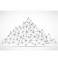 Abstract mountain of lines and dots vector