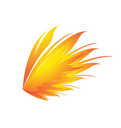 awesome eagle wings logo vector image