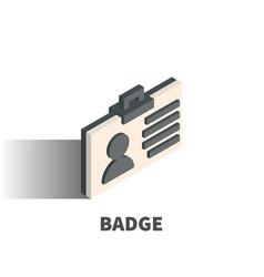 badge icon symbol vector image