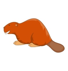Beaver icon cartoon style vector image