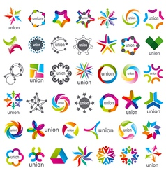 Biggest collection of logos Union vector