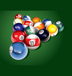 billiard balls on the table vector image