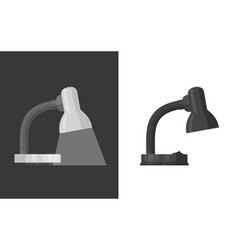 Black and white lamp vector