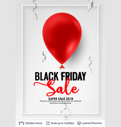 Black friday sale backgrond air balloon and text vector