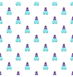 Blue flippers pattern cartoon style vector image