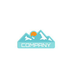 camping outdoor adventure emblems logo vector image