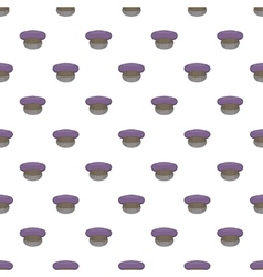Cap pattern cartoon style vector