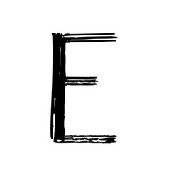 capital letter e painted by brush vector image