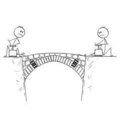 Cartoon of two men politicians or businessmen vector
