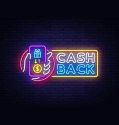 cash back sign design template smartphone vector image